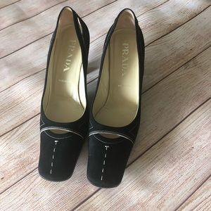 PRADA Vintage vero cuioio suede Heels